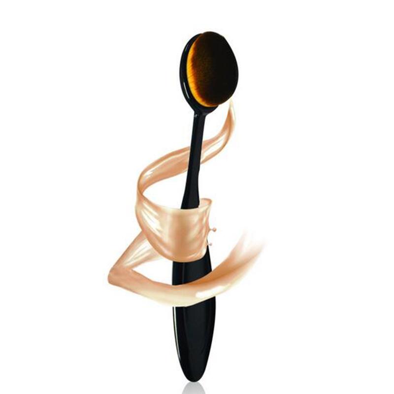 Oval Makeup Brush Set Cosmetic Foundation Cream Powder Blush Make Up Brushes Tool Facial Cleaning Tools Maquiagem MB021(China (Mainland))