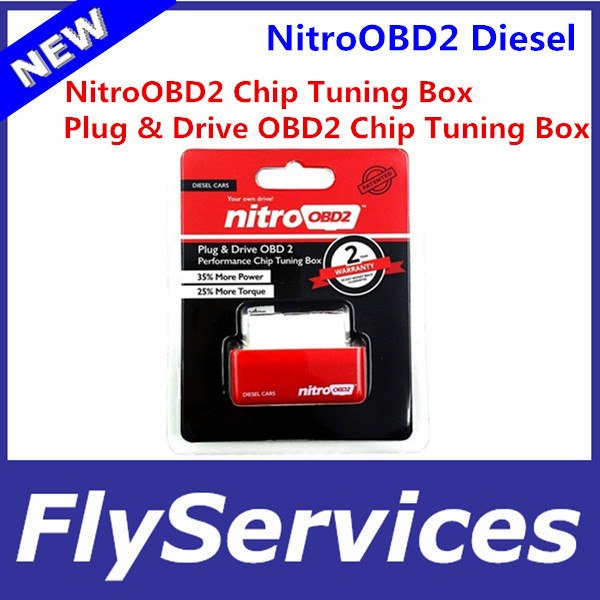 5PCS/LOT New Arrival Plug And Drive NitroOBD2 Performance Chip Tuning Box For Diesel Car NitroOBD2 Chip Tuning Box Fast Shipping(China (Mainland))