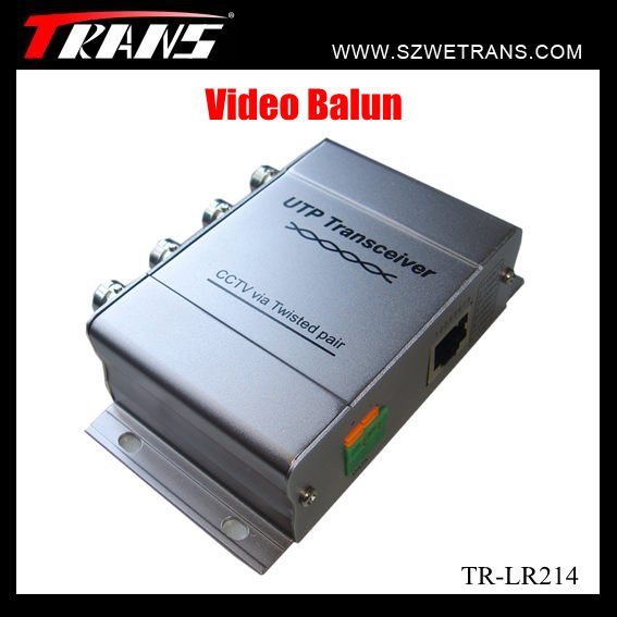 Long-distance transmission and high-quality image With Audio 4CH passive video balun(China (Mainland))
