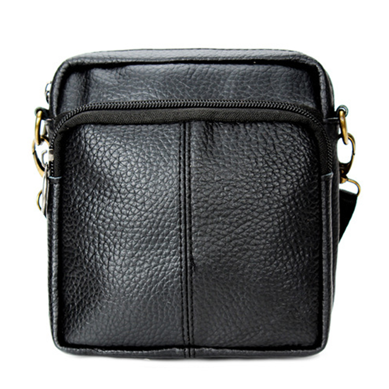 2016 New Men's Fashion Vintage Leather Satchel Leisure High Quality Shoulder Messenger Bag Purses Black Free Shipping P330(China (Mainland))