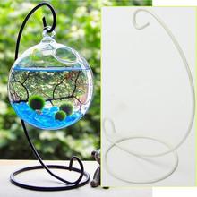 2016 New Beautiful&Romantic Iron Wedding Candle Holder Moroccan Candlestick Glass Ball Hanging Bracket Stand 1Pcs(China (Mainland))