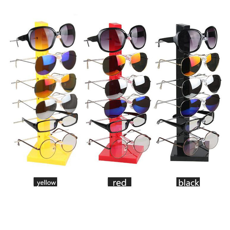 LAN LIN sunglass display holder 6 layers shape display stand for glasses 3D glasses display frame plastic and metal holder rack(China (Mainland))