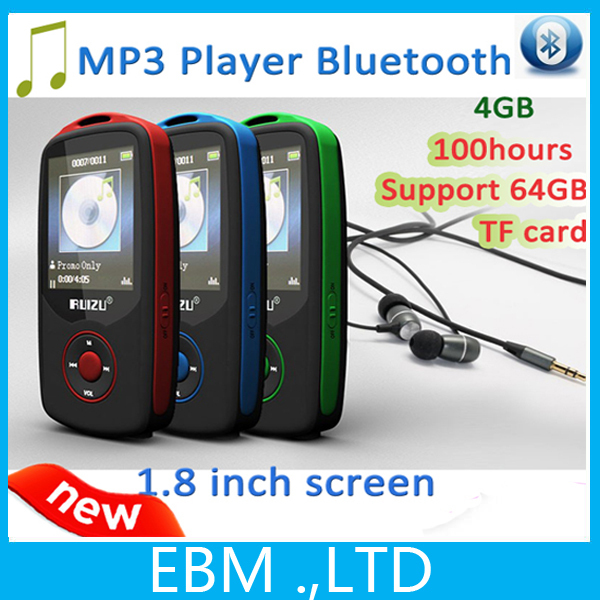 2015 New Original RUIZU X06 Bluetooth Sport MP3 music Player with 4GB 1.8Inch Screen 100hours high quality lossless Recorder FM(China (Mainland))