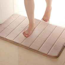 Memory Foam Bath Mats Bathroom Horizontal Stripes Rug Non-slip Bath Mats 40*60cm(China (Mainland))