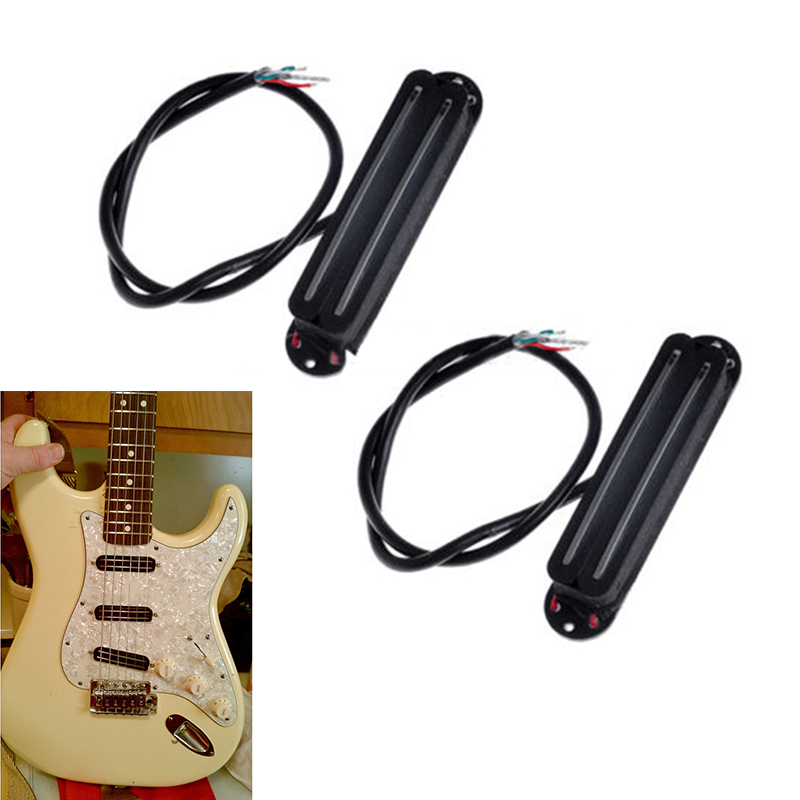 2pcs Excellent Dual Hot Rails Single Coil Blade Humbucker Guitar Pickup 4 Wire Lightweight For Electric Guitar(China (Mainland))
