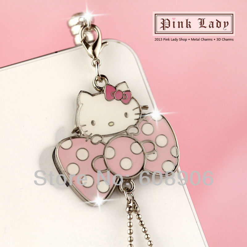 ip476 Cute Hello Kitty Dust Proof Phone Plug Cover Charm For iPhone Smart Phone(China (Mainland))