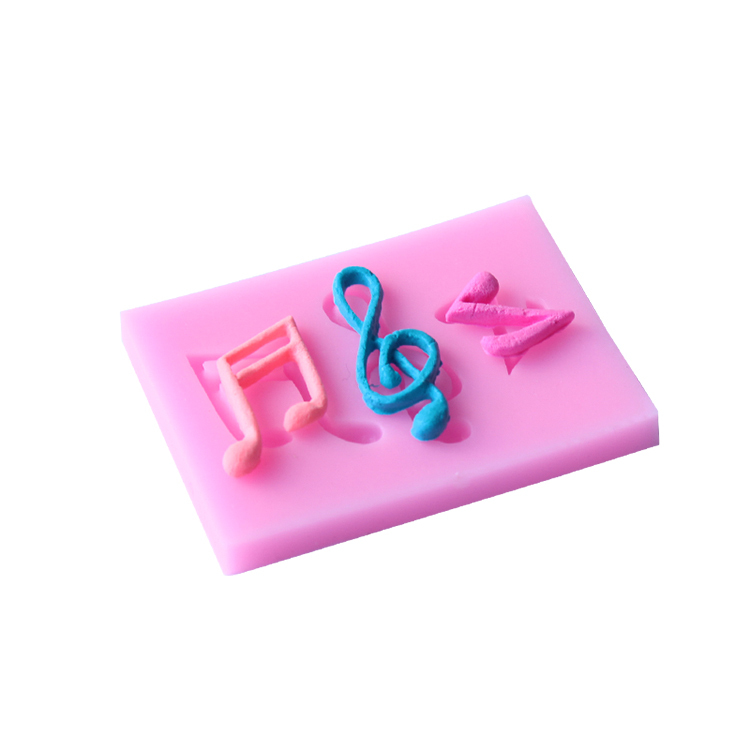 New 3D music notes Shape Silicone Mold, Jelly, Chocolate, Soap ,Cake Decorating DIY Kitchenware ,Bakeware D151(China (Mainland))