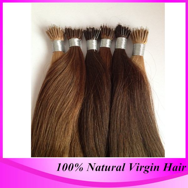"""New 2015 Unprocessed straight Micro Nano Ring Nano Beads Hair Extension 100s /pack 50g 12""""-24"""" In Stock 0.5g/pack(China (Mainland))"""