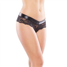 Buy M XL Plus Size Latex Lace Sexy Panties Women Erotic Briefs Sexy Thong Underwear Women Lingerie Intimates Sex Products