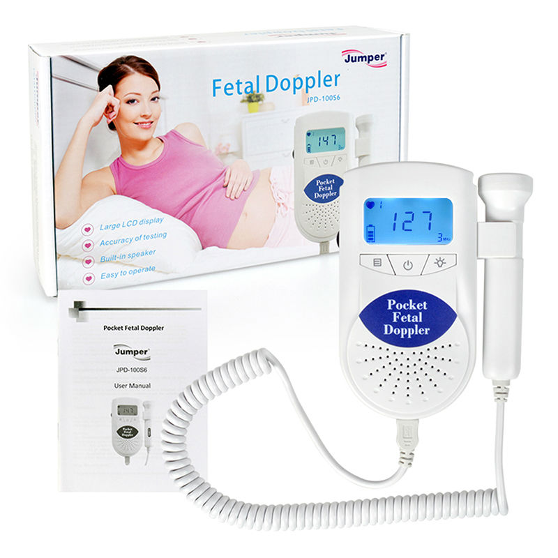Health Care JPD-100S6 LCD Fetal Doppler Pocket Ultrasound Prenatal Detector Portable Baby Fetal Heart Rate Monitor Free P&P