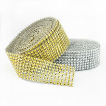 "Buy 1.58""x30 FT Diamond Sparkle Rhinestone Wraps Ribbon Wedding Party Home Decor/wedding decoration/event party supplies for $6.92 in AliExpress store"
