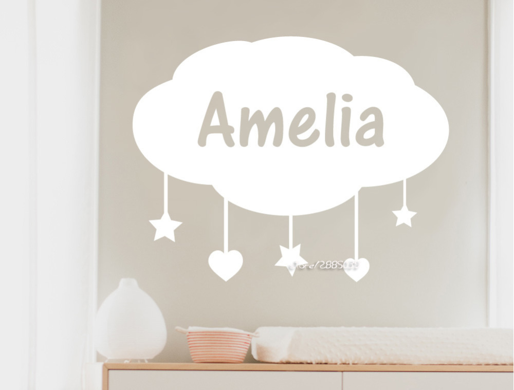 Baby Nursery Wall Stickers Clouds PromotionShop For Promotional - Waterproof promotional custom vinyl stickers