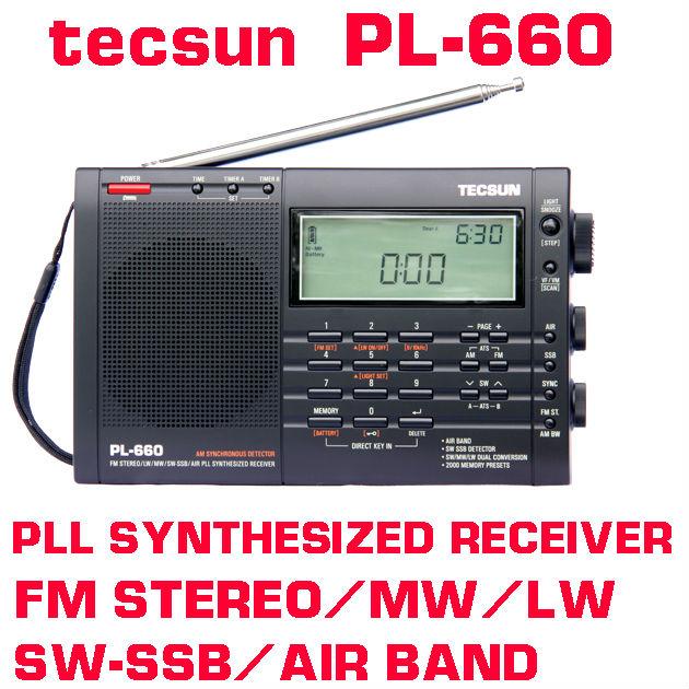 Free Shipping TECSUN PL-660 FM Stereo LW MV SW SSB AIR PLL Synthesized Radio(China (Mainland))