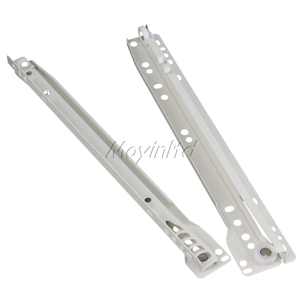 2 Fold Metal Heavy Drawer Slide Rail Runners With Plastic Ball Bearing 1 Pair(China (Mainland))