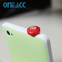Hot Sell Chocolate Beans M Beans Phone Anti Dust Plug Cell Phone Accessories For Iphone4 5 6 3.5mm Earphone Jack Plug(China (Mainland))