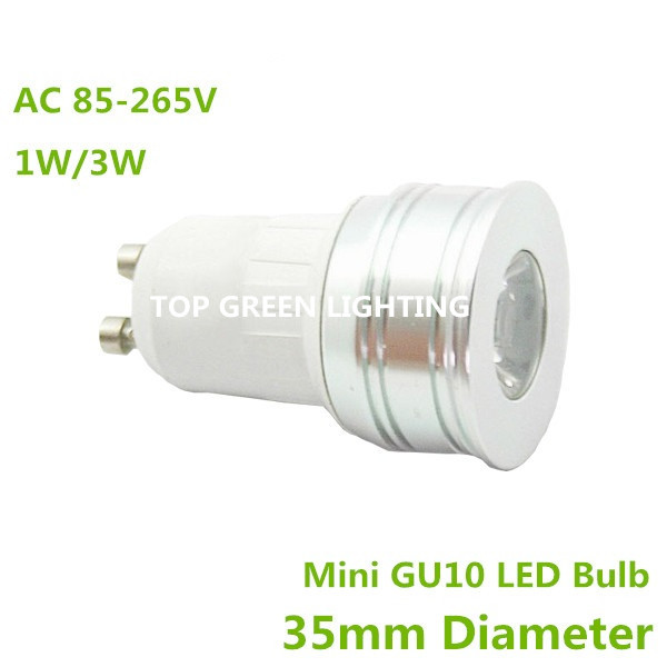 2pcs mini gu10 35mm led spot light bulb 1w 3w small gu10 bulb lamp ac 110v 220v 230v 240v mr11. Black Bedroom Furniture Sets. Home Design Ideas