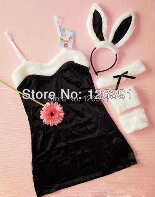 Sexy Cute Cosplay Rabbit Costumes Lingerie Hot For Women,Pink/Red/Black The Sexi Club Wear,Dance Dress,Sex Costume JY-73(China (Mainland))