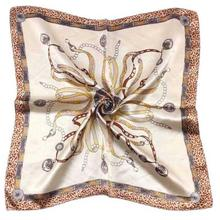 2016 Fashion Brand Women Satin Silk Scarf Female Design Satin Big Square Shawl For Ladies #ED(China (Mainland))