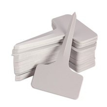 50pcs/set Plastic Plant T-type Tags Markers Nursery Garden Decoration Grey 6 x10cm(China (Mainland))