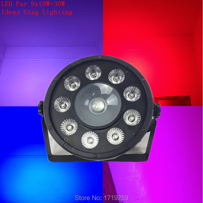 2pcs/lot Fast Shipping  LED Fat Par 9X10W+1X30W Led Light RGB 3IN1 LED Light Stage DJ Light DMX Led Par Par Party Lights<br><br>Aliexpress