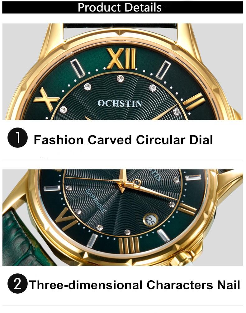2016 Продажа Наручные Часы Женщины Дамы Бренд Известный Ochstin Наручные Часы Кварцевые Девушки Кварцевые часы Montre Роковой Relógio Feminino