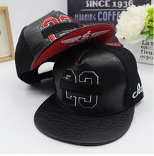 New Letter 23 PU Leather Brand Snapback Cap Baseball Cap Hat For Men Women Sport Hip Hop  Bone Gorras(China (Mainland))