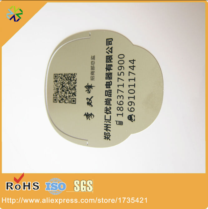 (500pcs/lot) new arrival high quality metal material shaped small metal tag with QR code<br><br>Aliexpress