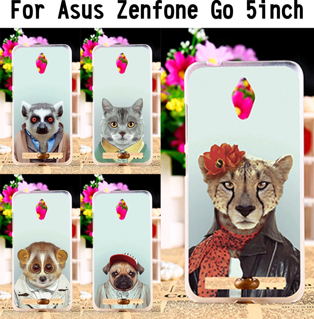 cool animal style Pattern case For Asus ZenFone Go zenfone Go case mobile phone skin Animal Dressing Clothes Cover Phone shell(China (Mainland))