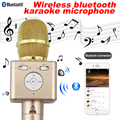 Bluetooth wireless microphone Handheld Mobile phone sing karaoke condenser mike mic audio record announcer ktv amplifier