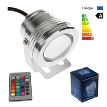 New RGB 10W 12V Led Underwater Light 16 Colors 1000LM Waterproof IP68 Fountain Pool Lamp Lighting(China (Mainland))