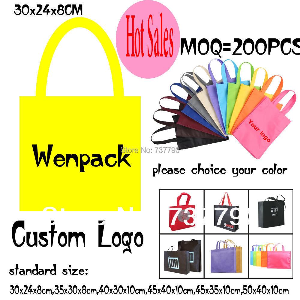 custom printed logo gift non woven bag/promotion hand handle non-woven cloth bag for fashion/shopping bag(China (Mainland))