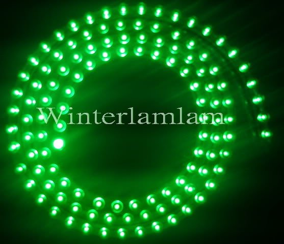 "PVC 120cm 48"" Green Car LED Light Flexible strip Bar(China (Mainland))"