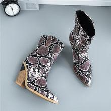 Meotina Thương Hiệu Giày Bốt Nữ Mùa Đông Giữa bắp chân Giày Lạ Cao cấp Phong Cách Giày Tây Mũi Nhọn Giày Nữ Mùa Thu kích thước 33-46(China)