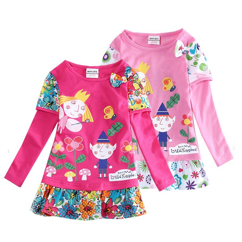 retail 2y/6Y Long sleeve dirls clothes children t shirt nova brand cotton o-neck girl t shirt kids t shirt children clothing(China (Mainland))