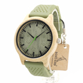 BOBO BIRD B06 Womens Casual Bamboo Wood Watches With Silicone Straps Japan Quartz Movement 2035 Watch