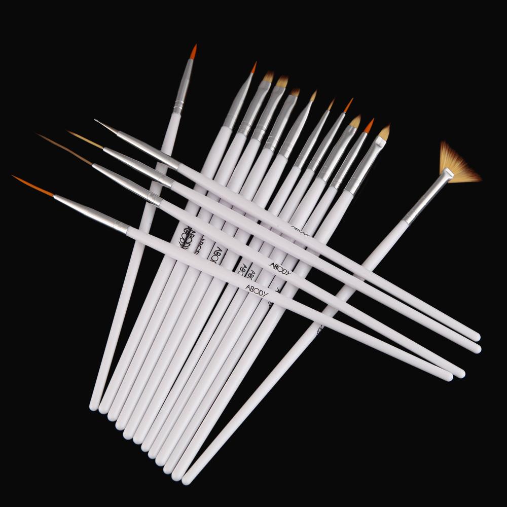 16pcs White Nail Brush Brushes Set Nail polish gel art Paint Design Pen Tools Makeup brushes for manicure(China (Mainland))