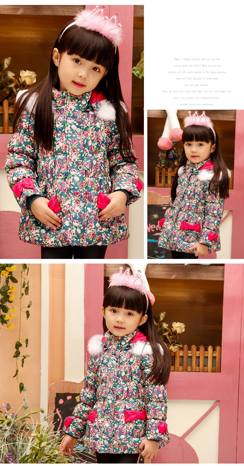 Bejirog yeni sevimli kız aşağı ceket uzun kapüşonlu bebek kalınlaşmış beyaz eiderdown ceket çocuklar kış ceket çocuklar giymek giysi