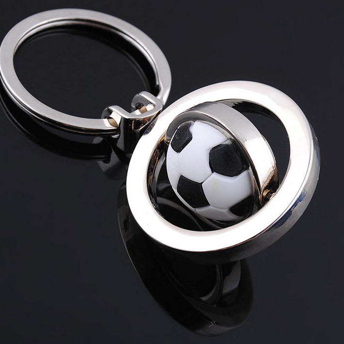 cool lovely football soccer design key chain alloy