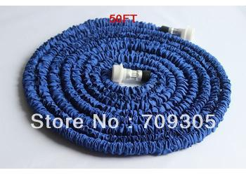FREE FEDEX.100pc/lot 50FT extendable hose UK,US,ERO connector watering hose for garden.free fedex(China (Mainland))