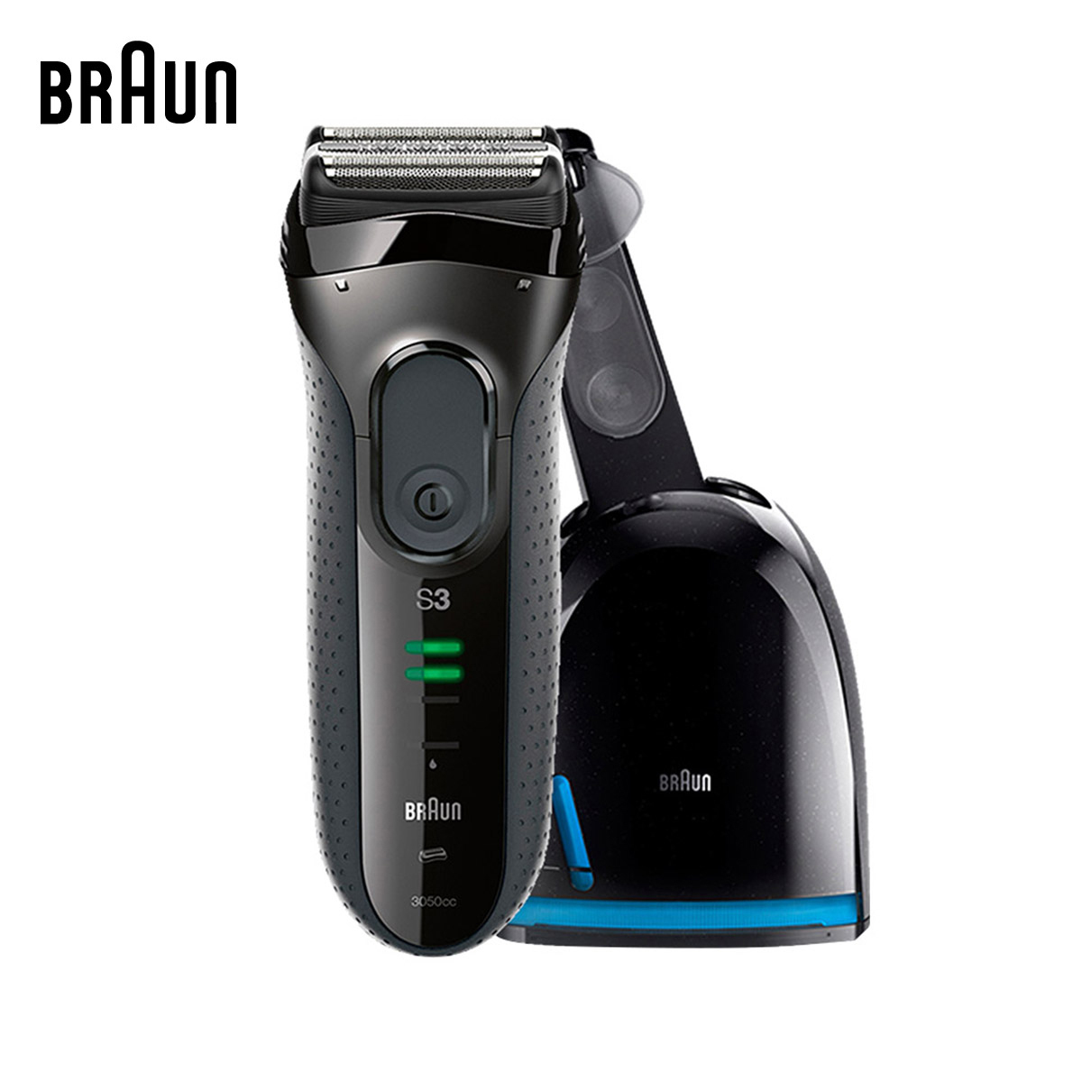 Braun Electric Shavers 3050cc Men Electric Razors Washable Reciprocating Blades Automatic Cleaning Center(China (Mainland))