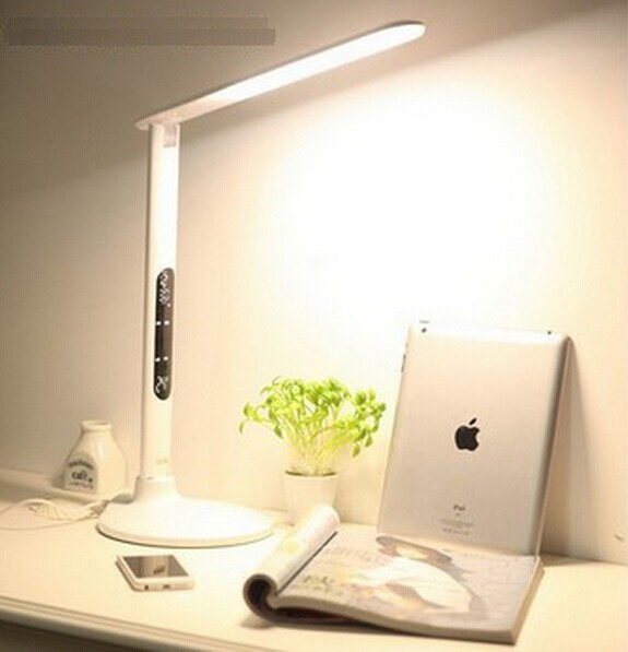 2835SMD 42 LED Dimmable touch panel LED desk Lamp Light 8W led flexible table lamp AC100-240V Free shipping(China (Mainland))