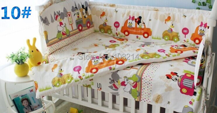 design mickey minnie mouse bedding 100 cotton baby crib set many size meet requirement baby mickey crib set design