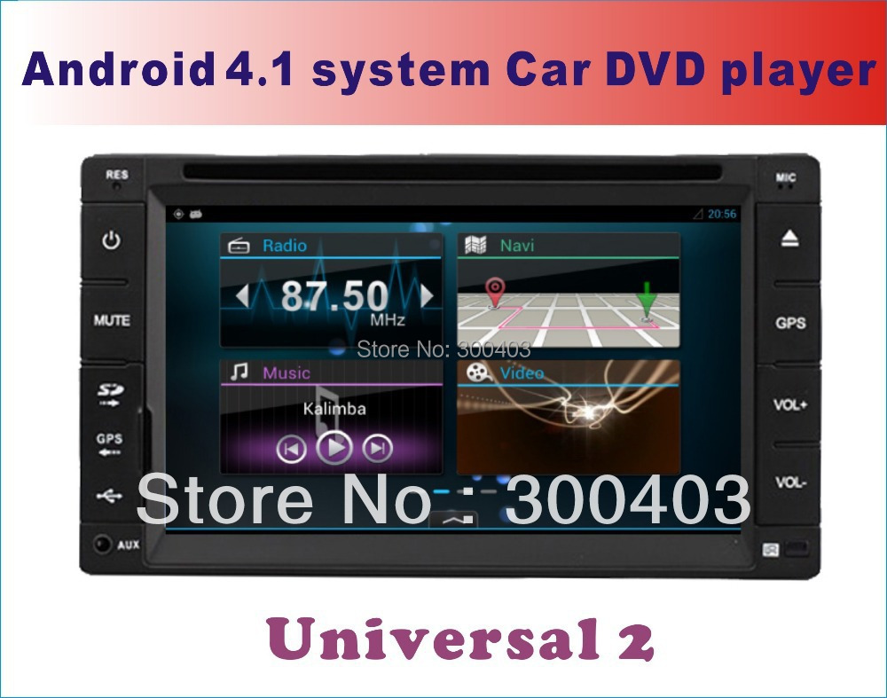 "Capacitive screen HOT 6.2"" LCD Android 4.2 Car VEHICLE multimedia PC DVD Player laptop GPS Navigation,8GB,3G WIFI Bluetooth TV(China (Mainland))"