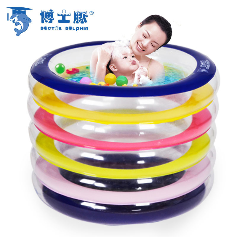 Dr. Dolphin baby pool manufacturers, wholesale environmental PVC2014 new color circular inflatable pool for children(China (Mainland))