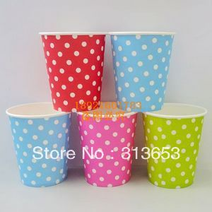 new arrival wedding /party cup /disposable cups/paper cup/Drinking Cups (1200pcs. four color.205ML)(China (Mainland))