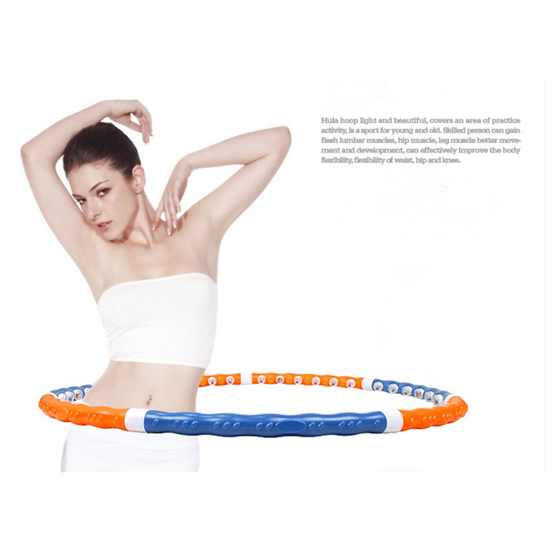 Removable Magnetic Massage Hoop Hula Hoop Slimming Fitness Equipment For Home Weight Loss 1 KG 110CM Free Shipping(China (Mainland))