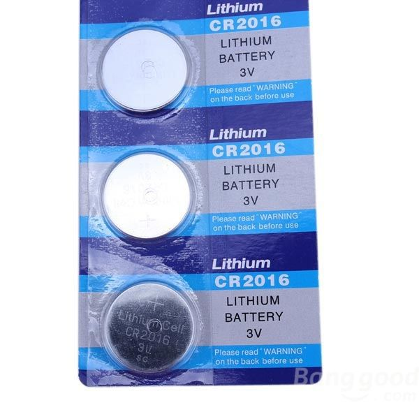 niceseller 5PCS Lithium CR 2016 Cell Button Coin Battery Watch 3V Electronic(China (Mainland))