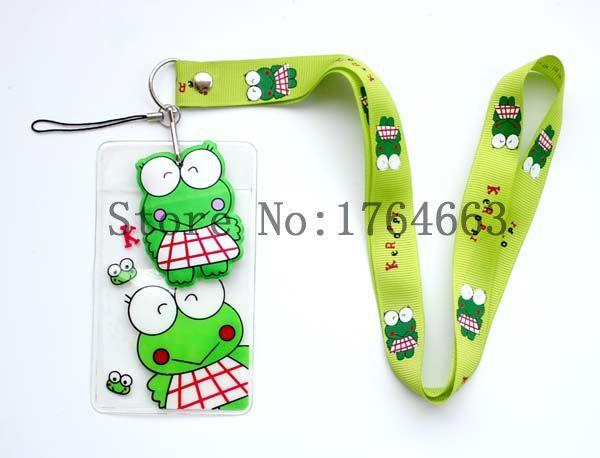 10 pcs Cartoon child soft rope elastic lanyard, badge bus card sets direct lanyards, wholesale(China (Mainland))