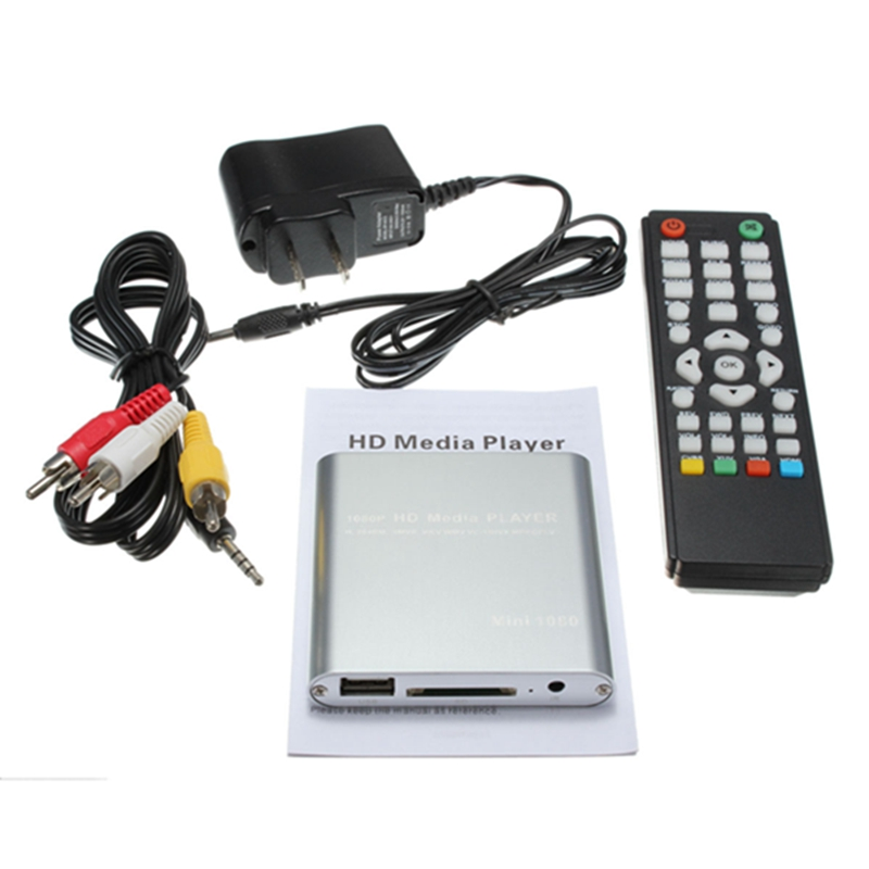 Top Selling New Full HD 1080P Mini HDD Multi Media Player POUR HDTV MKV H.264 RMVB HDMI With HOST USB SD Card Reader(China (Mainland))