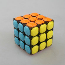 YONGJUN Magic Cube 3*3*3 Plastic Magic Cube Professional Competition Super Smoothness 3 Magic Cube(China (Mainland))